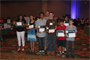 U.S. Army Corps of Engineers-Pacific Ocean Division Commander  Col. Gregory J. Gunter (center) is pictured with students who received awards for being  outstanding senior and junior researchers in the engineering field at the 56th Hawaii State Science and Engineering Fair awards ceremony April 10 in Honolulu.  Gunter presented the awards on behalf of the Society of American Military Engineers Honolulu Post, of which he is the current president.  The Army Corps of Engineers is committed to teaming with others to support programs that inspire current and future generations of young people to pursue careers in science, technology, engineering and mathematics (STEM) fields.