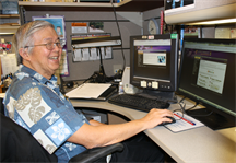 Thomas Mun, who is an electrical engineer at the Pacific Ocean Division, U.S. Army Corps of Engineers, logs on to the eCybermission website.  Mun was a volunteer virtual judge for the 2012/2013 eCybermission program competition.  The U.S. Army-sponsored program is designed to share the importance of science, technology, engineering and mathematics (STEM) education with America's youth--tomorrow's leaders. Mun evaluated 65 student projects, helping students understand real-life application of STEM fields.