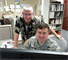 Col. Thomas Lavender, senior Drilling Individual Mobilization Augmentee Soldier at the U.S. Army Corps of Engineers-Pacific Ocean Division, and Andrew Benziger, chief of Readiness and Contingency Operations at the Division, collaborate on a draft concept plan to support military contingencies on the Korean Peninsula during exercise Key Resolve 13.
